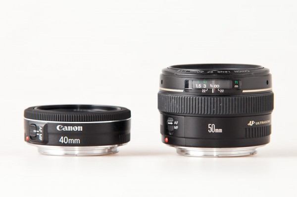 Canon 40mm f/2.8 STM vs. Canon 50mm f/1.4 USM