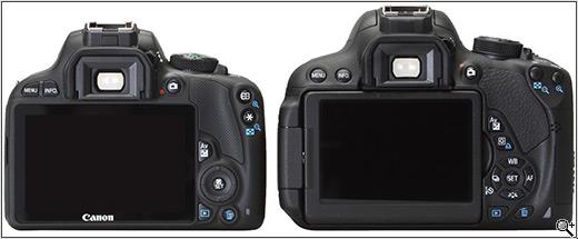 Canon EOS 100D és 700D (Forrás: dpreview.com)
