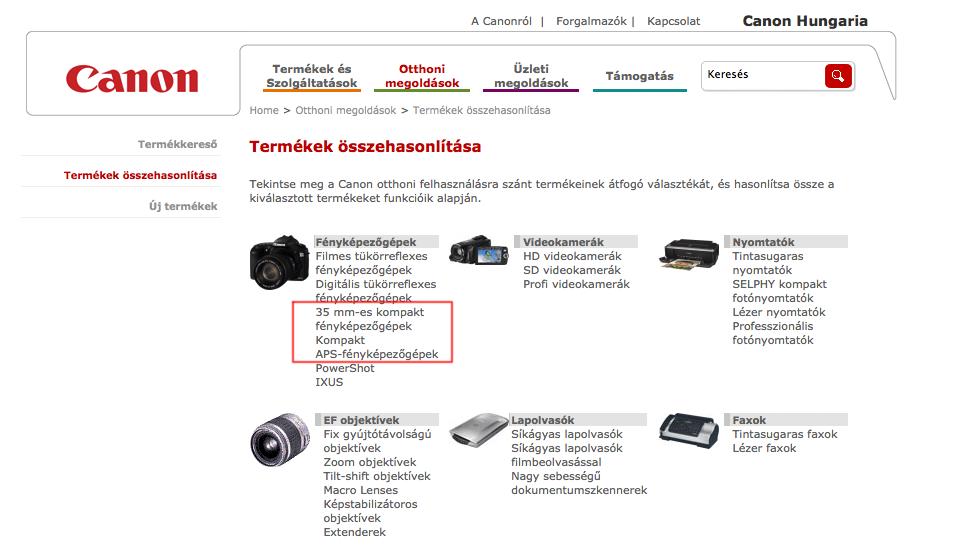 Nagyszenzoros kompaktokon dolgozik a Canon?