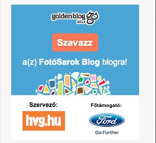 Szavazzatok ránk a Goldenblogon!