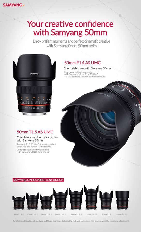 50mm f/1.4 objektív jön a Samyangtól