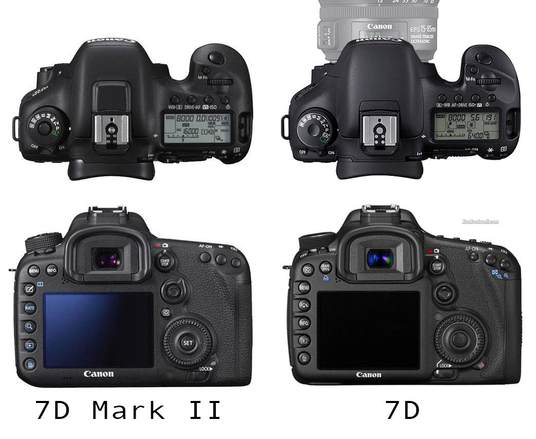 7D Mark II külcsíny különbségek