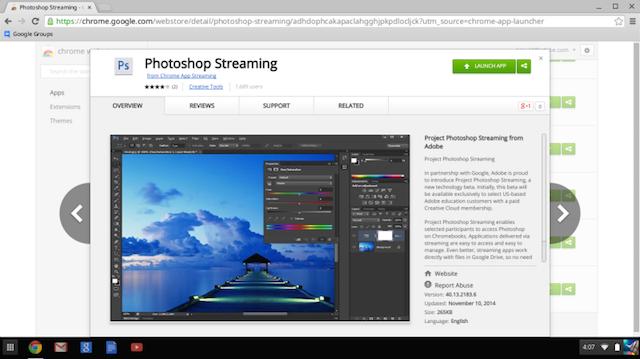 Íme a Streaming Photoshop