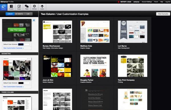 Egyedi layout példák