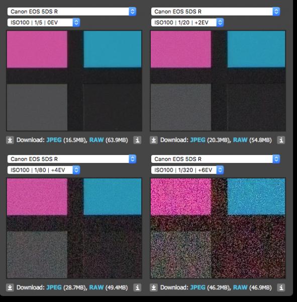 Canon 5DS R Exposure Latitude teszt (dpreview.com)