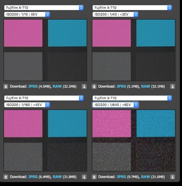Fujifilm X-T10 Exposure Latitude teszt (dpreview.com)
