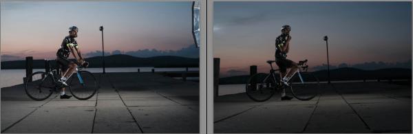 A baloldali kép a - viszonylag - helyes expo, viszont a helyszínen az LCD-n a jobboldali tűnt jónak.
