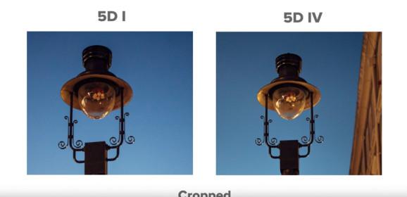 5D Mark I és 5D Mark IV ISO-összehasonlítás