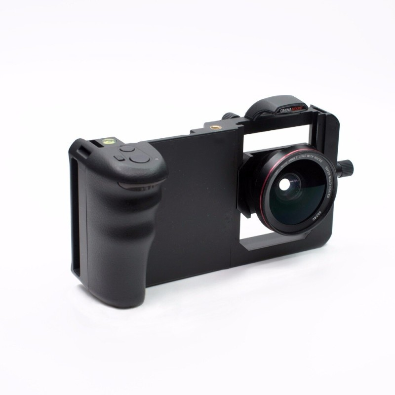 Smart-Phone-Grip-Stabilizer-Cage-Wide-Angle-Macro-Lens-for-iPhone-6-7-Samsung-HTC
