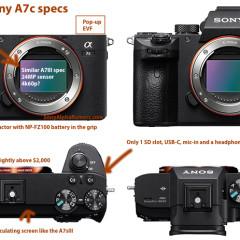Jön a Sony A7c fullframe milc